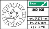 Bremsscheibe hinten Lucas Suzuki Intruder VS 1400cc (MST 365) 275/57/5mm