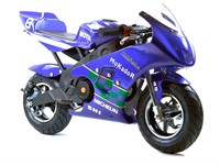Super Pocket Bike West Racing 49 cc, Blau