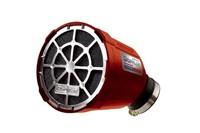 Rennluftfilter Doppler, Box rot, Filter schwarz, Grill chrom