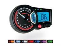 Compteur KOSO Digital Cockpit RX2 GP Style, RPM / ODO / SPEED / TRIP, avec des lumières multicolores