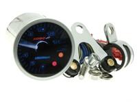 Drehzahlmesser KOSO GP Style II 48, RPM / SL, rund, d=48x57mm