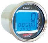 Drehzahlmesser KOSO LCD, RPM / TEMP, rund, d=55x57mm, blau beleuchtet