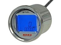 Tacho KOSO Digital LCD rund, 55x57mm, blau beleuchtet