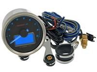 Drehzahlmesser KOSO GP Style II 55, RPM / TEMP, rund, d=55x57mm, blau beleuchtet
