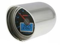 Chromgehäuse KOSO, für 1-1/2 und 1-1/4 Zoll Lenkerhalter für alle 55mm GP Style Instrumente