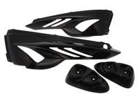 Heckverkleidung BCD Extrem, mit vorderen Seitenteilen, MBK Stunt / Yamaha Slider, schwarz