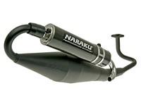 Auspuffanlage Naraku Crossover, GY6, schwarz lackiert, Carbon-Endschalldämpfer