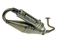 Auspuffanlage Naraku Crossover, GY6, klar lackiert, Kevlar-Endschalldämpfer