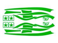 Aufkleberkit R&D replica, Zip SP 1, Grün, 70x40