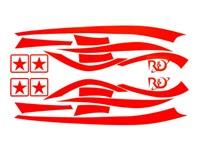Aufkleberkit R&D replica, Zip SP 1, Signalrot, 70x40