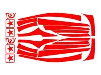 Aufkleberkit R&D replica, Yamaha JOG/ MBK MachG, Signalrot