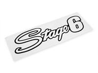 Aufkleber Stage6 20x6cm - Schwarz