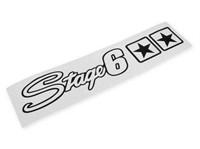 Aufkleber Stage6 mit Sternen 25x4.5cm - Weiss