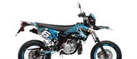 Dekor Kit Verkleidung Stage6 Yamaha DT50 blau - schwarz