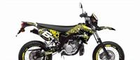Dekor Kit Verkleidung Stage6 Yamaha DT50 gelb - schwarz