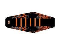 Housse de selle STAGE6 full covering, noir/orange, moto 50cc Beta RR