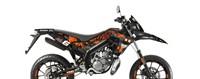 Sitckerset / Dekor Kit Verkleidung Stage6 Derbi 50 DRD X-Treme Euro 4 orange - schwarz