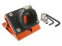 Ansaugstutzen & Spacer Stage6 R/T, Mnarelli, gerade nach hinten, Ø=28-26mm, Orange