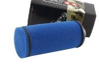 Racingluftfilter Stage6 lang (ca. 20cm) 35mm Anschluss, Blau