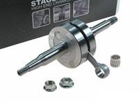 Kurbelwelle Stage6 R/T MKII, 44mm Hub / 90mm-Pleuel, inkl. 14mm-Kolbenbolzenlager, Minarelli liegend