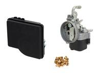 Kit carburateur SHA 12/12 avec gicleurs et filtre Polini, vélomoteurs Piaggio Ciao/Si