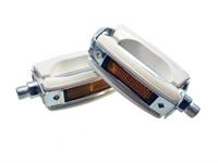 Pedal-Set universal, weiss/chrom  (Paar)