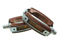 Pedal-Set universal, braun/chrom  (Paar)