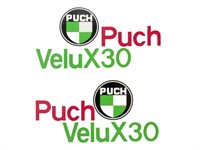 Tankaufkleber Puch Velux X30, links + rechts