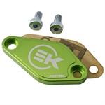 Abdeckung Ölpumpe Alu, Minarelli AM6/ Derbi, grün