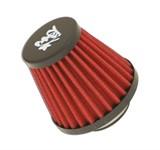 Performanceluftfilter STR8, Anschluss gerade Ø 35/28mm, Rot