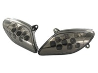 Blinker STR8 LED Black-Line, Aprilia SR Factory, vorne, mit Prüfzeichen
