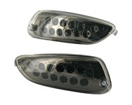 Blinker STR8 LED Black-Line, Aprilia SR Factory, hinten, mit Prüfzeichen