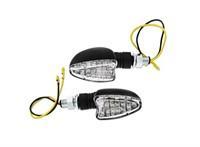 Blinker STR8 Demon LED, Klarglas, mit Prüfzeichen, schwarz