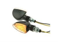 Blinker STR8 Demon LED, Klarglas, mit Prüfzeichen, carbon-look