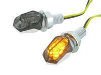 Blinker STR8 LED Mini II Black-Line, weiss / getönt, E-Prüfzeichen