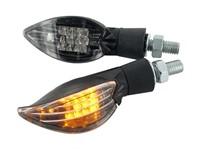 Blinker STR8 Curve LED, schwarz, mit ECE
