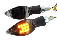 Blinker STR8 Curve LED Black-Line, schwarz-transparent, mit ECE
