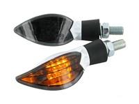 Blinker STR8 Curve LED Black-Line, weiß, mit ECE