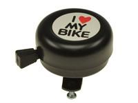 Glocke / Klingel  I love my bike, schwarz